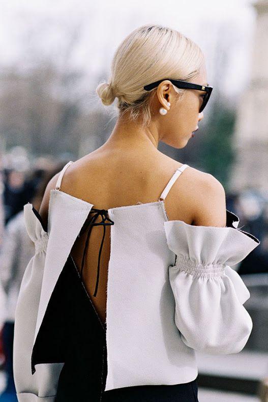 Buns, Pearls, and Fun Blouses at Paris Fashion Week A/W 2015