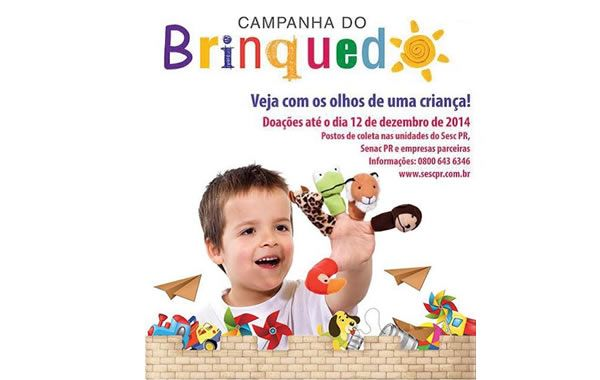Campanha de arrecadação de brinquedos Sesc 2014  - http://projac.com.br/noticias/campanha-de-arrecadacao-de-brinquedos-sesc-2014.html