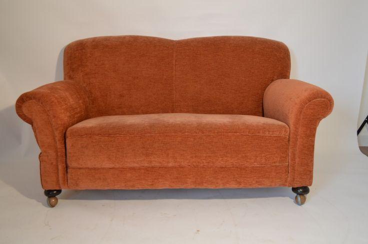 A Fabulous Small Victorian Drop Arm Sofa c1890