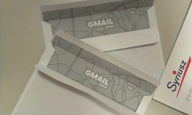 Otwieram kopertę a tam google mail.