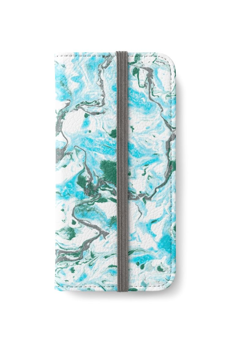 """""""Blue and white marble texture. """" iPhone Wallets by kakapostudio   Redbubble"""