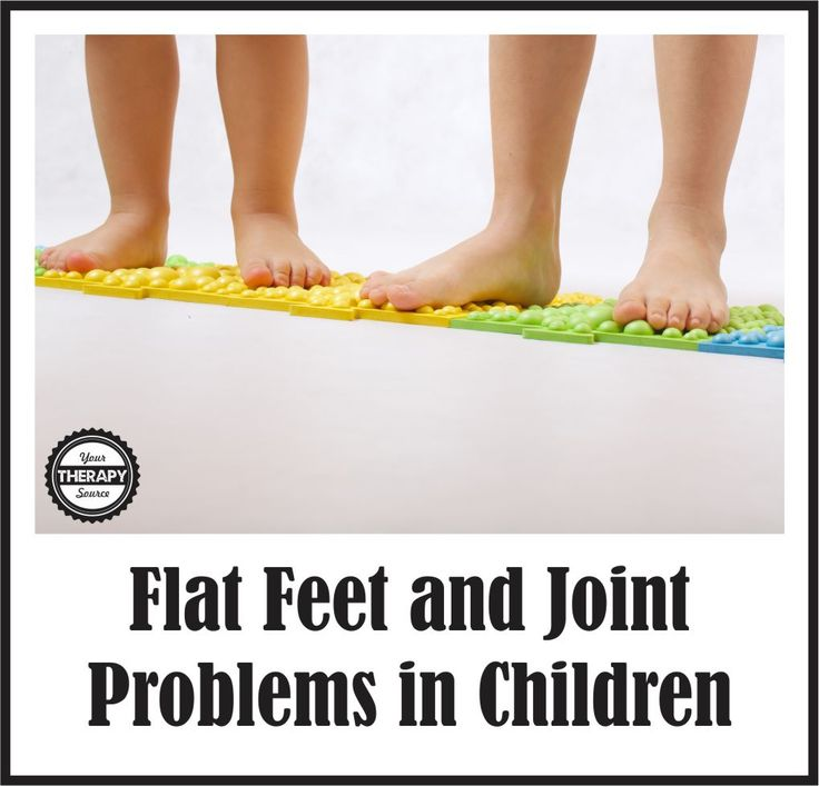 Flat feet and proximal joint problems in children