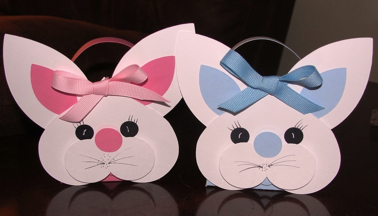 Easter Bunny Treat Baskets - punch art - bjl