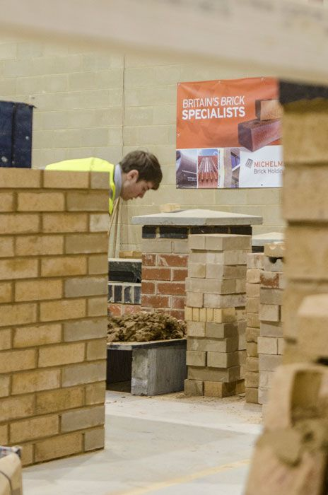 Brooklands college brickwork department at BDA lovebrick road show on 24th November 2015, sponsored by MBH PLC.