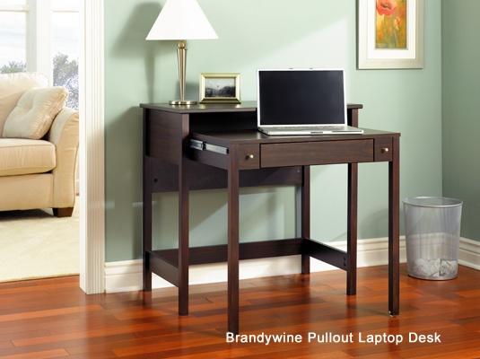 Bush Brandywine Pullout Laptop Computer Desk