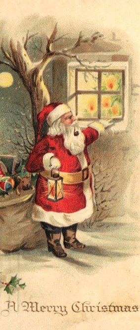 Checking to see who is naughty or nice.