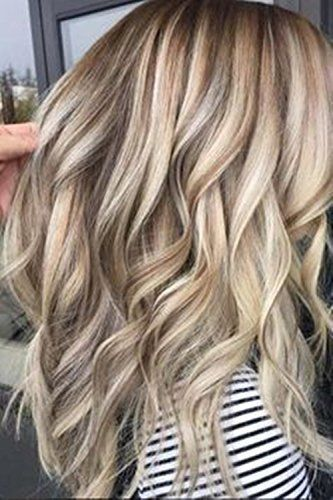 Details zu Ugeat Echthaar Lace Front Perücken Wavy Balayage Ash Brown mit Bleach Blonde