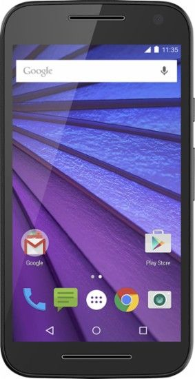 Motorola - Refurbished Moto G (3rd Generation) 4G with 8GB Memory Cell Phone (Unlocked) - Black -  Front Zoom - Best Buy