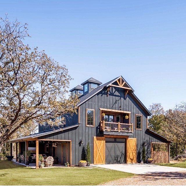 Dark Exterior Ideas To Revolutionize Your House Down Leah S Lane Barn Style House Modern Barn House Barn House Plans