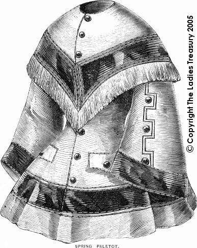 Period Pattern: Lady's Spring Paletot March 1857. When I'm old, this will be MINE.