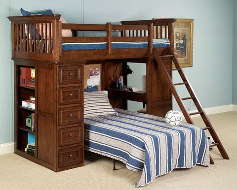 Shop For Legacy Classic Kids Junior Loft Bed Twin, And Other Bedroom Beds  At Discovery Furniture In Topeka And Lawrence Kansas.