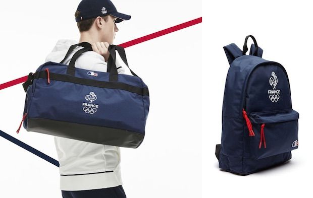 sac de sport lacoste jeux olympiques equipe de france 2016