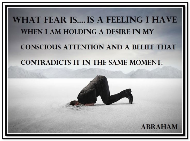 What is fear ..... Abraham Hicks