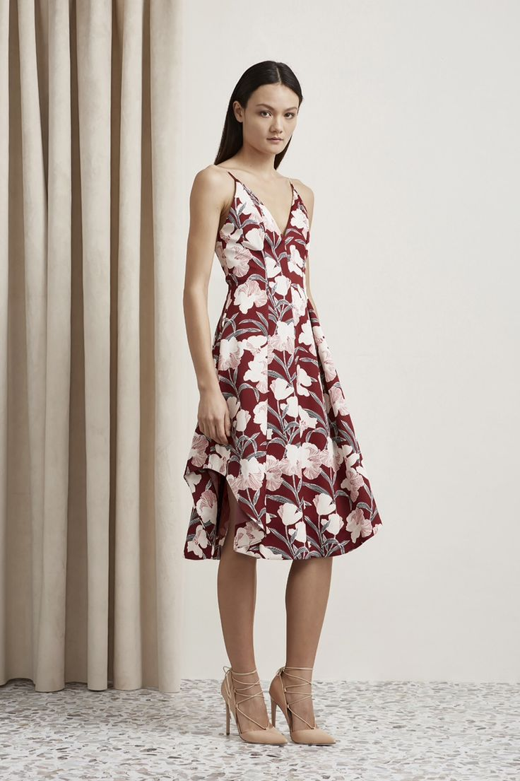 Heart Strong Floral print shoe string strap Dress