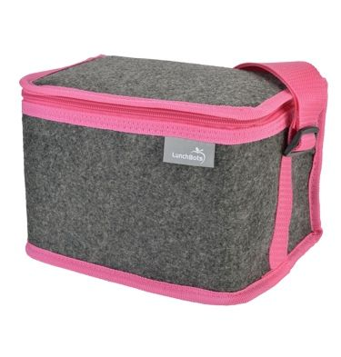 Insulated lunch bag for kids and adults made from eco felt. Designed to fit multiple LunchBots containers, a water bottle, cutlery, and all your lunch gear.
