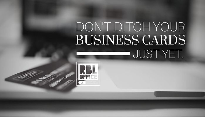3 Reasons Why You Shouldn't Ditch Your Business Cards Just Yet - branding, business, business cards, networking, graphic design