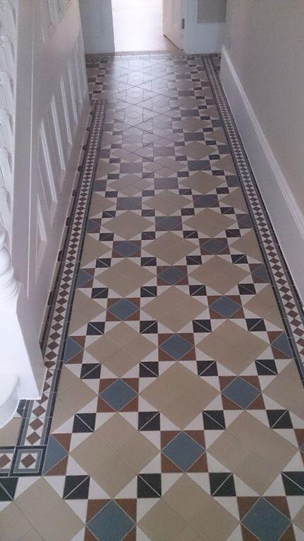 Restored Victorian tiles by Stone Floor Restore www.stonefloorrestore.co.uk