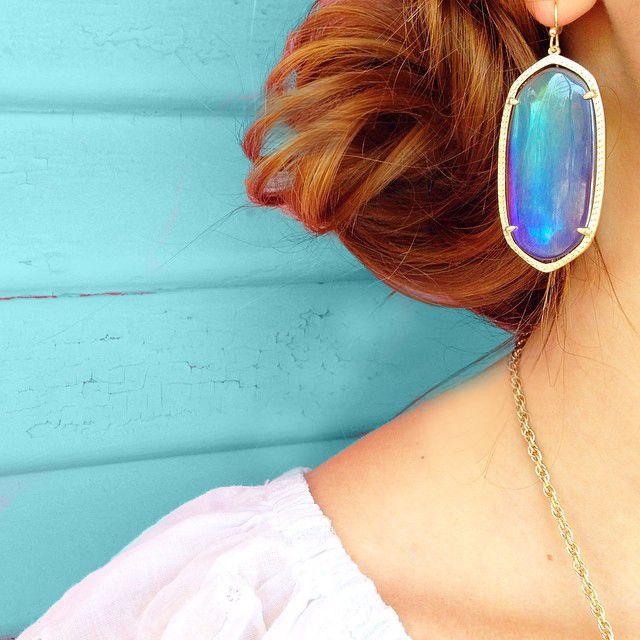 Kendra Scott Danielle Earrings in Mystic Iridescent. Coming soon!