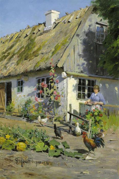 L'artista Peder Mork Monsted (Peter Mørk Mёnsted 1859-1941).  Part 3 (45 foto)