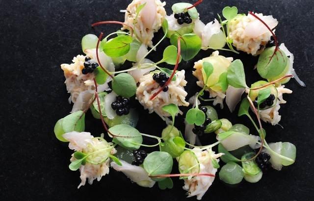 Crab Salad Recipe With Mackerel Tartare, Cucumber & Avocado | Adam Simmonds