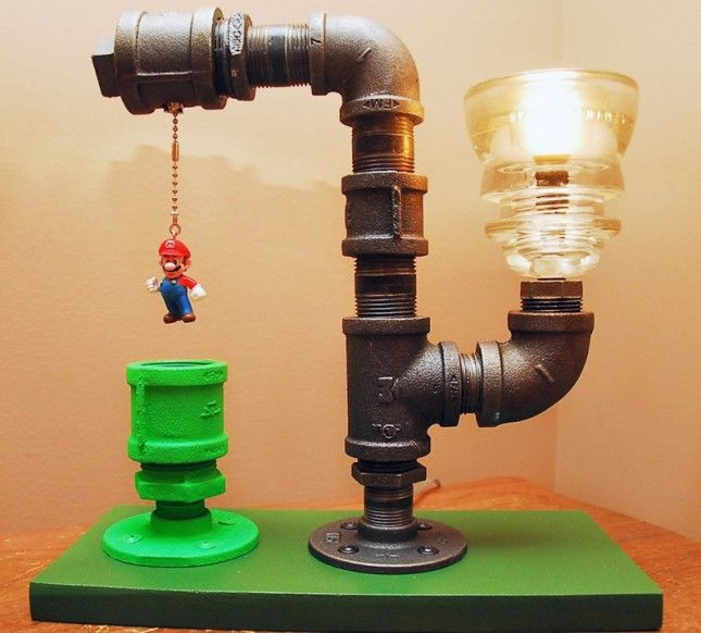 Mario Brothers Industrial Pipe Lamp