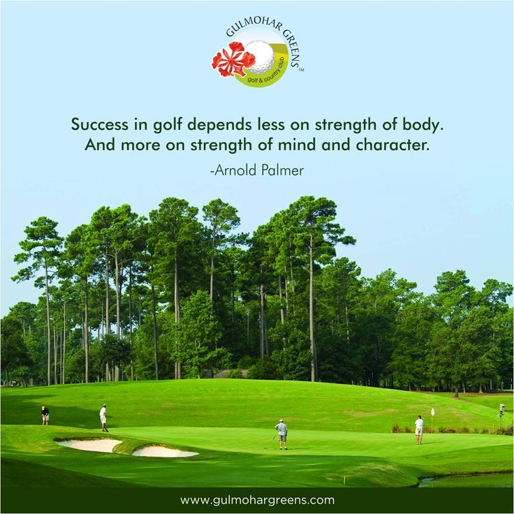 A person with a strong mind and character is the true gentleman who can ace the game of golf!
