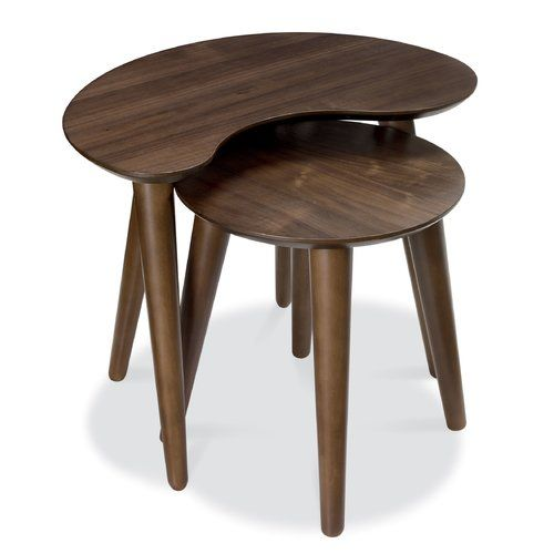 Hykkon Elisa 2 Piece Nest Of Tables Wood Nesting Tables Bentley Design Furniture