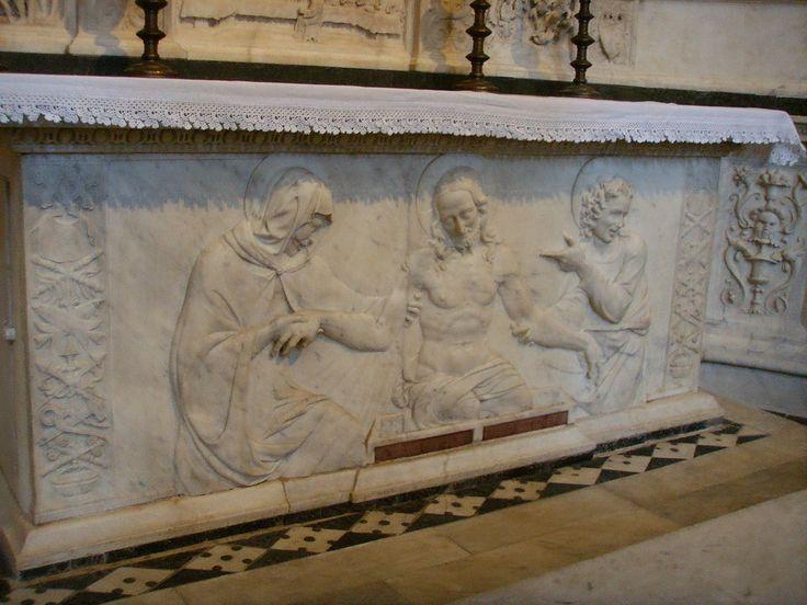 Santo Spirito, andrea sansovino, altare del sacramento, 1490 circa 01 - Category:Santo Spirito (Florence) - Interior - Wikimedia Commons