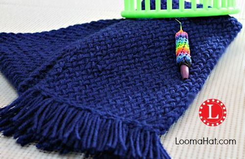Loom Knit Scarf. This pattern includes text, pictures and a VERY detailed step by step video tutorial. Almost a guaranteed fact that you will knit a scarf