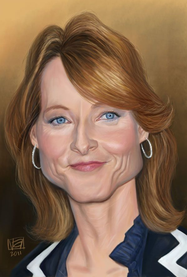 caricatures-of-famous-jodie_foster