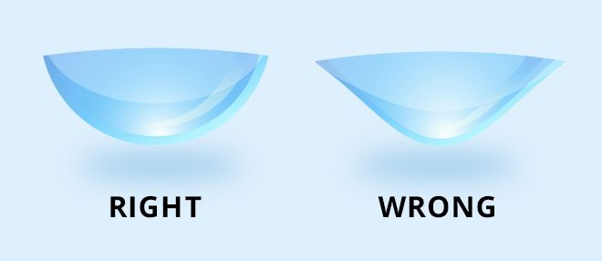 Handy tips for contact lens wearers, like how to tell if your lenses are inside-out.