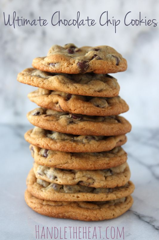 Ultimate Chocolate Chip Cookies - ok so I finally tried them and they are really good.  It's just a slight twist or two on the Toll House Recipe, but to my taste definitely worth it.  I shave off a min or two because I like them chewy/gooey. DELISH!