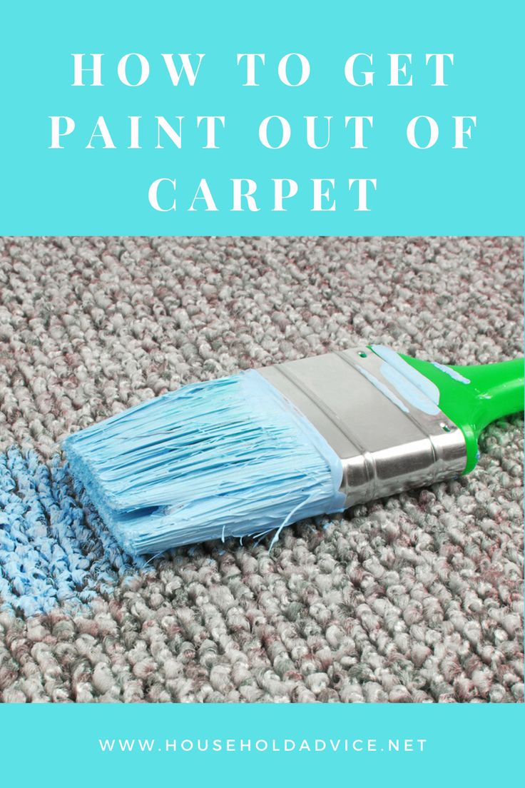 How to get paint out of carpet oil acrylic water based