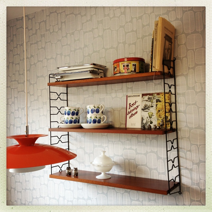 String shelf. #50s #prunus #missprint #interior #förvaring #storage