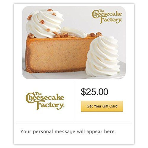 The Cheesecake Factory Pumpkin Cheesecake Gift Cards  Email Delivery >>> You can find out more details at the link of the image.Note:It is affiliate link to Amazon.