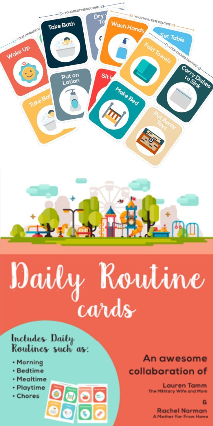 Printable Routine Picture Cards Routine Cards Routine Cards