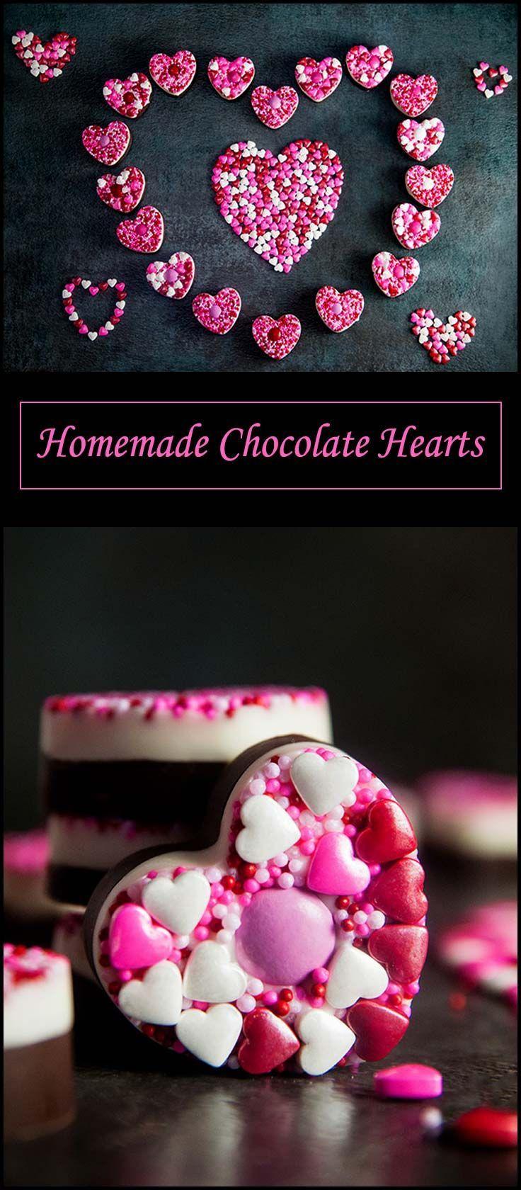 Homemade Chocolate Hearts from www.seasonedsprinkles.com