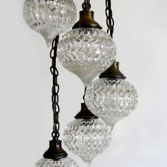 boho decorating vintage light fixture sold