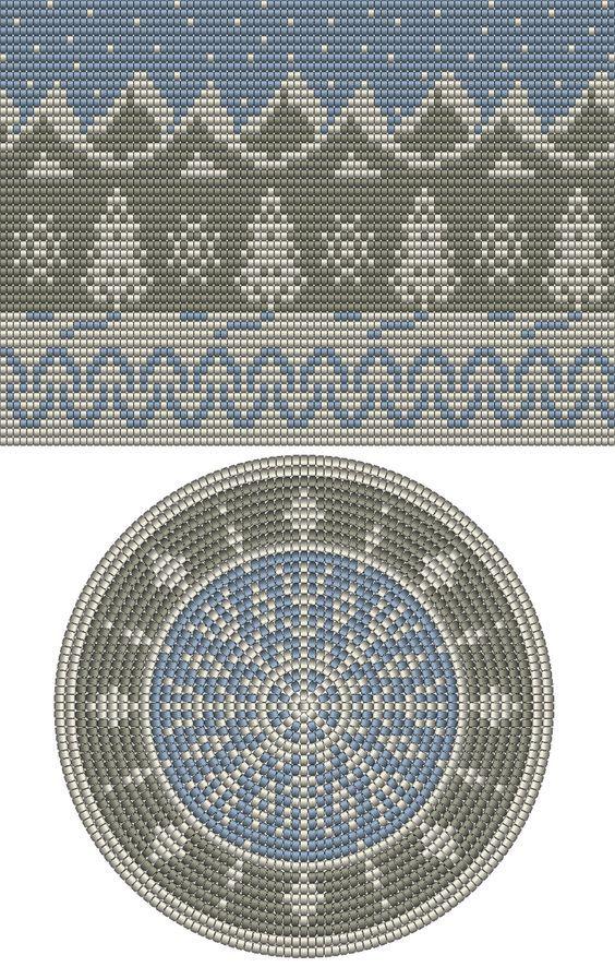 winter scene. mochila pattern