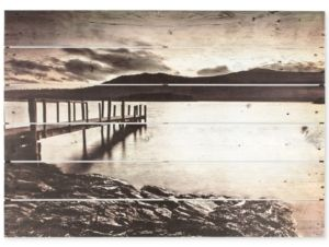 Graham & Brown Graham & Brown Tranquil Jetty Print on Wood