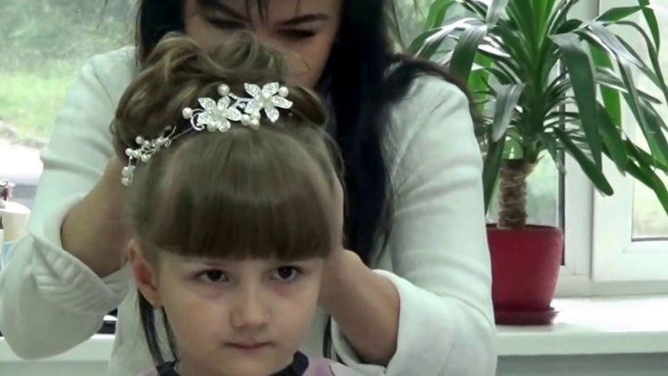 Прическа на выпускной в садик для Марички. Очень нежная и красивая приче...