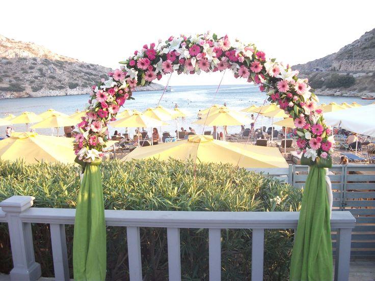 colorfull beach wedding