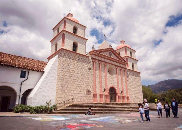 Old Santa Barbara Mission in California