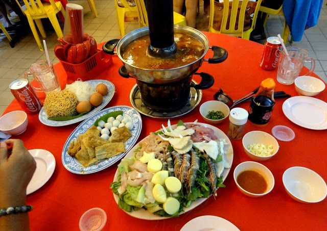 Charcoal Steamboat Dinner in the Cameron Highlands.