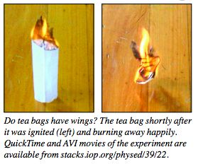 SCHOOL HOLIDAY SCIENCE: The science of fire & how to make a teabag 'fly'