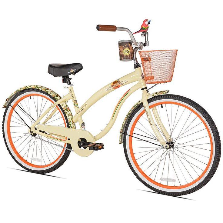 Women's Margaritaville 26-Inch First Look Cruiser Bike, Beig/Green (Beig/Khaki)