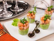 Веррины с кремом из горошка и острыми креветками | Вкусный блог - рецепты под настроение
