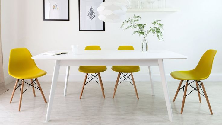 Just in time for Summer - A splash of #yellow Replica #Eames dining #chair