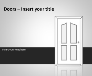 Doors PowerPoint Template - #free PowerPoint template with door shapes in the slide #template, for decision making or #business related PowerPoint presentations