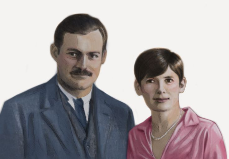 Ernest Hemingway and his second wife Pauline Pfeiffer.